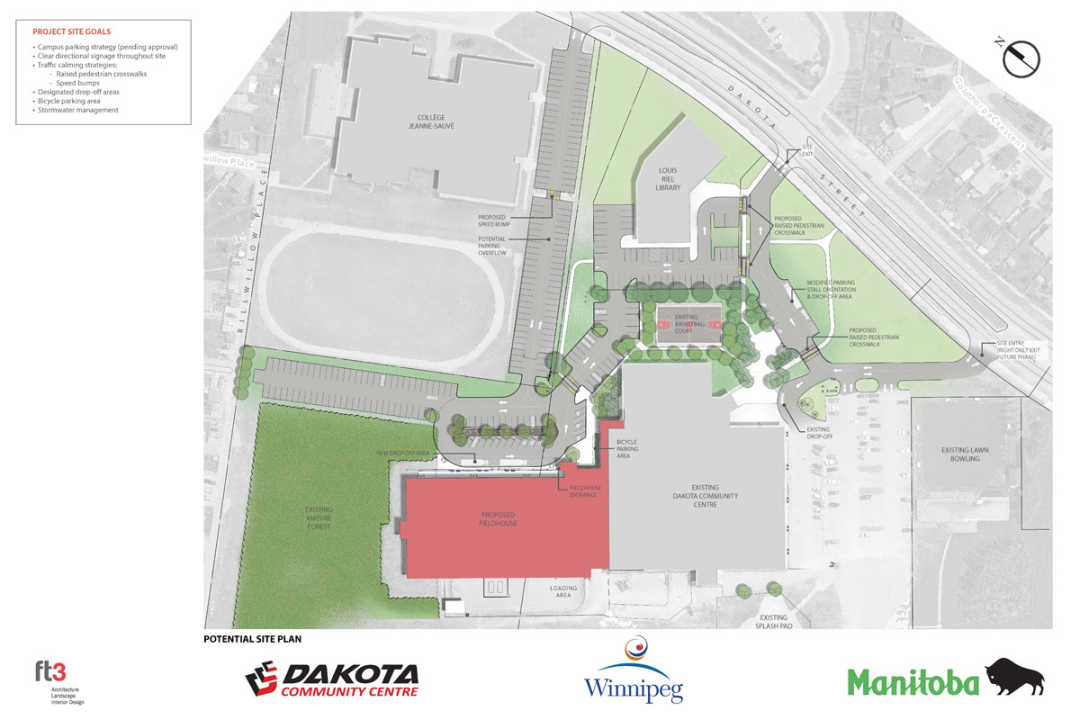 Temporary access route construction of new fieldhouse at for House site plan