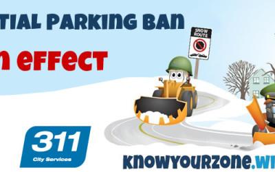 Residential Snow Parking Ban Starts Friday, December 9