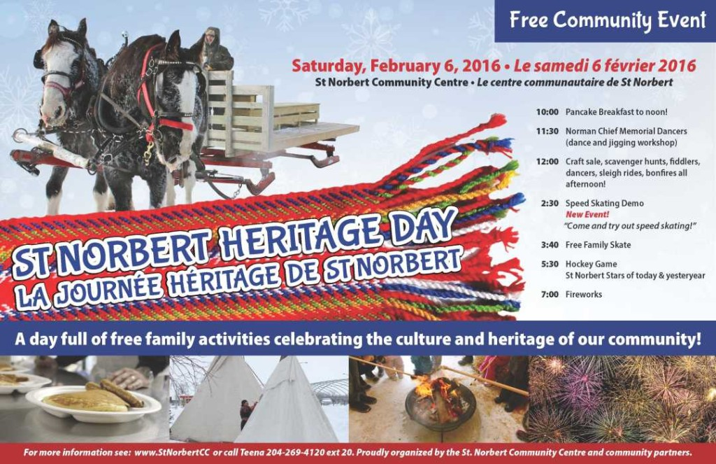 St  Norbert Heritage Day poster 2016