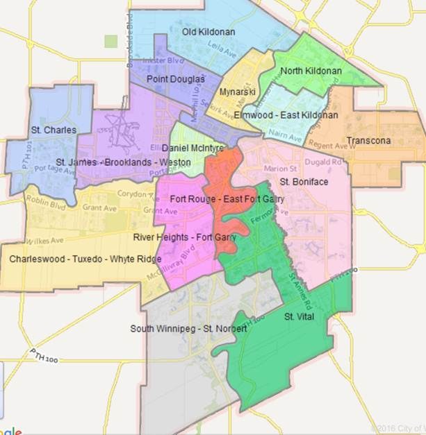 Wards in Winnipeg