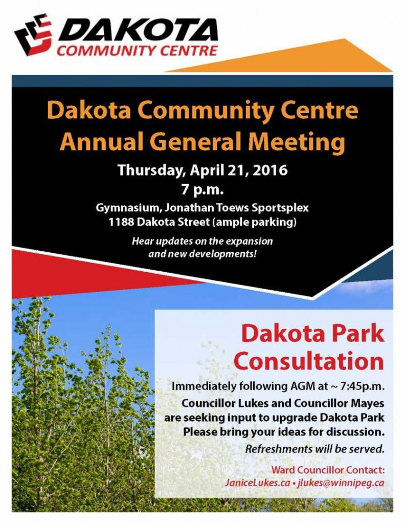 Dakota Community Centre poster