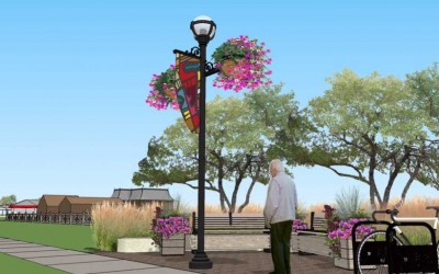 Support for New Pedestrian Lighting, Banners and Flowers