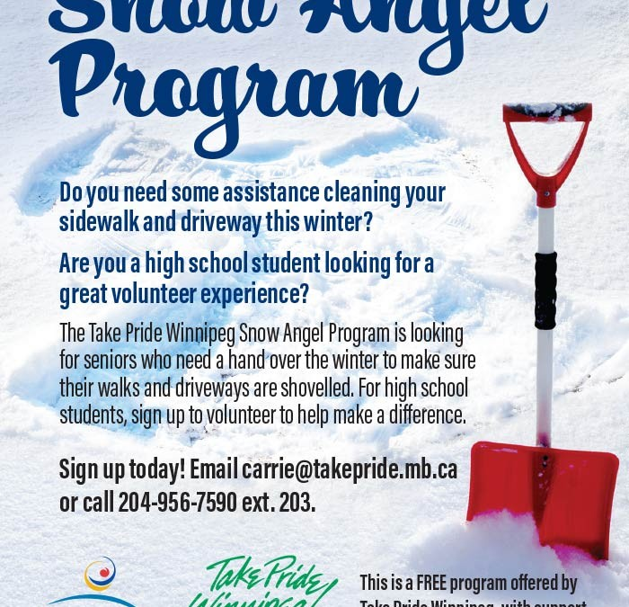 Snow Removal for Seniors & Volunteer Credit Hours for Students!