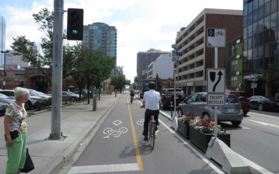 Adjustable Downtown Cycling Grid to be Studied for 120 Days