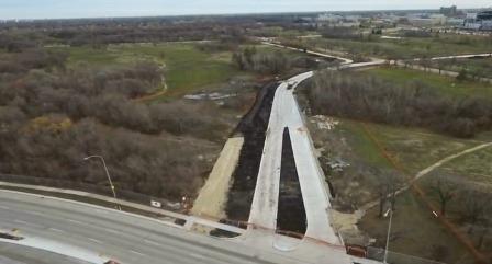 Drone Video of Southwest Rapid Transitway Under Construction