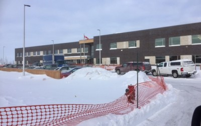 Traffic, Snow & École South Pointe School