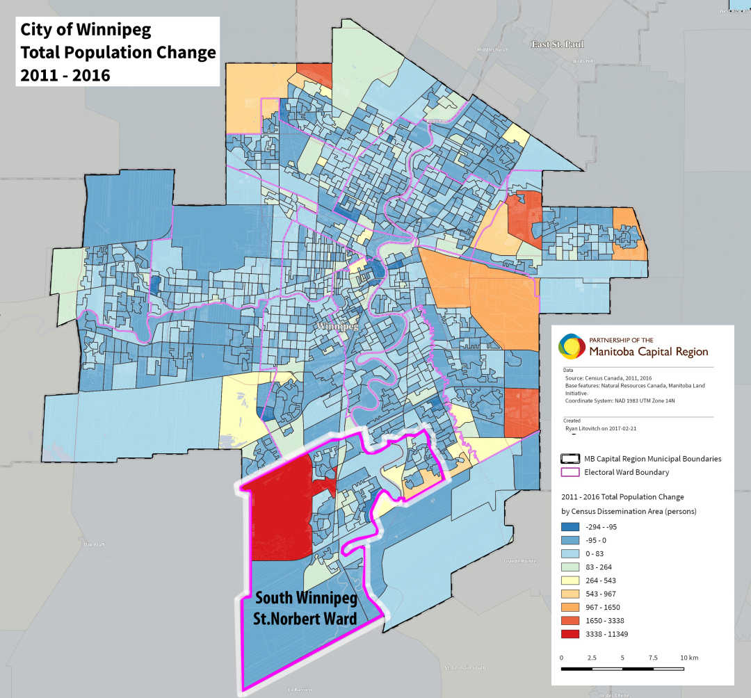 Map - South Winnipeg St Norbert ward