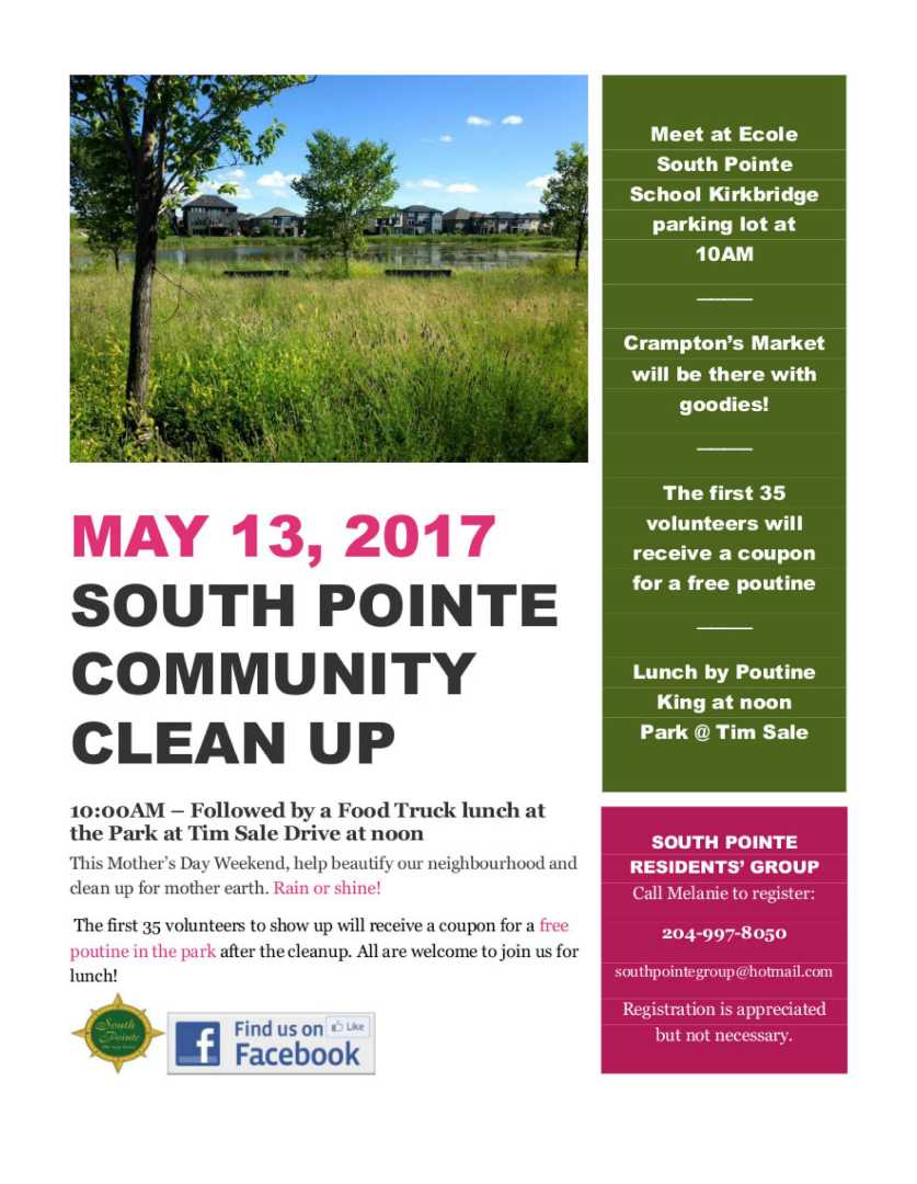 South Pointe clean up poster FInal
