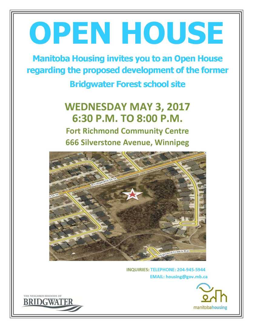 Bridgwater Open House Notice - May 3 2017