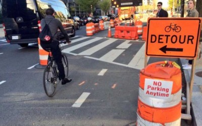 ROAD SAFETY: Cycling Routes during Road Construction & Enforcement of Temporary Traffic Controls