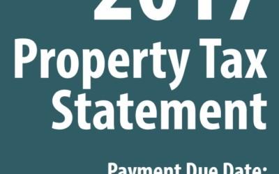 2017 Property Tax Bills Issued