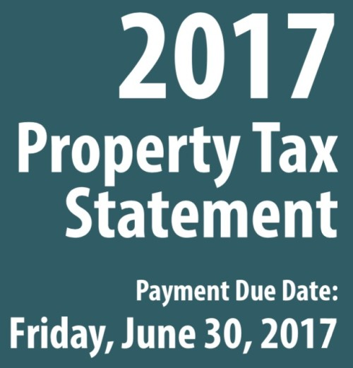 2017 Property Tax Bills Issued