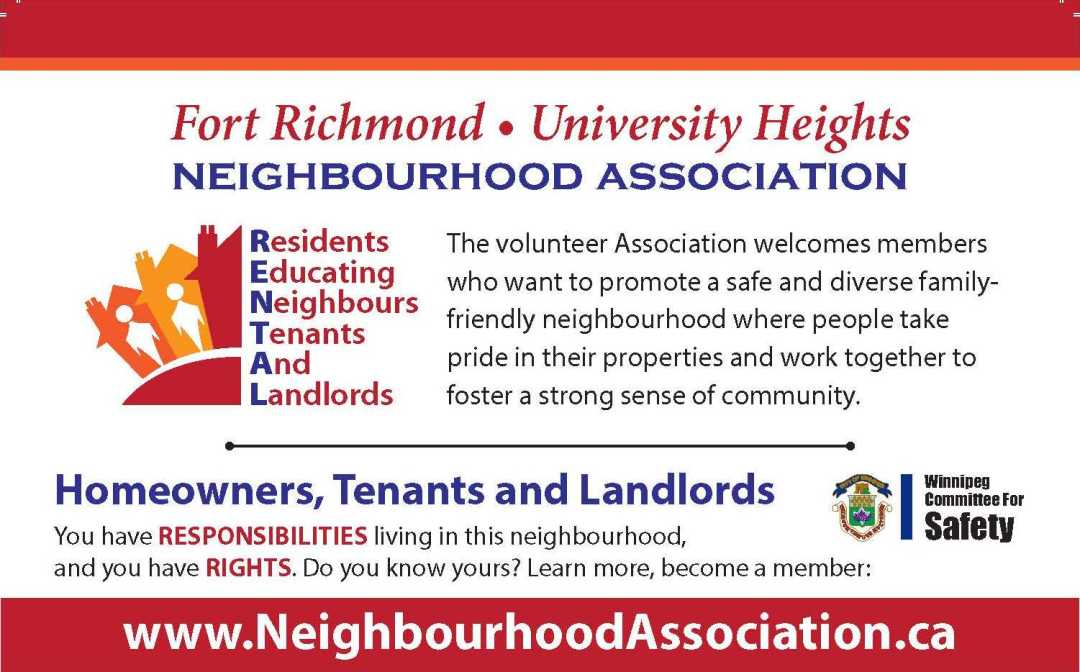 Neighbourhood Association postcard with Sponsor Logo