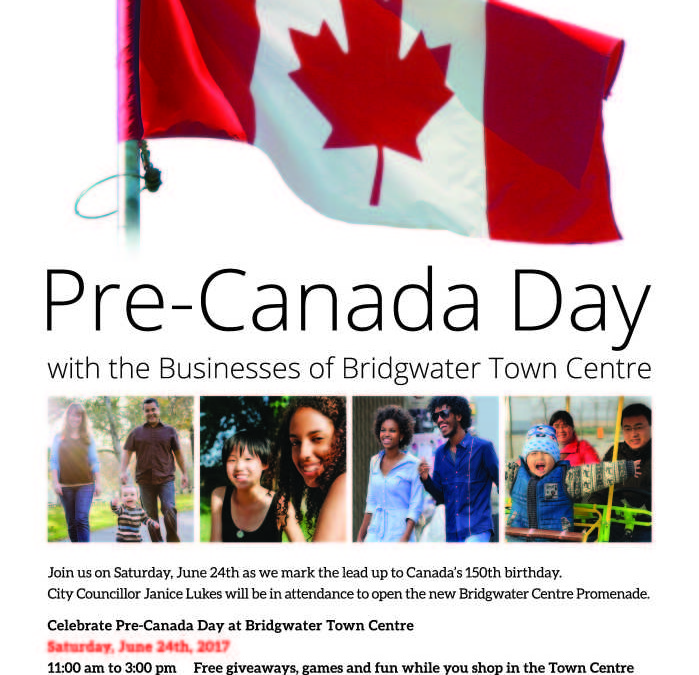 Pre-Canada Day Celebrations at Bridgwater Town Centre