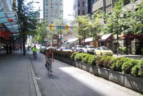 bike lane protected