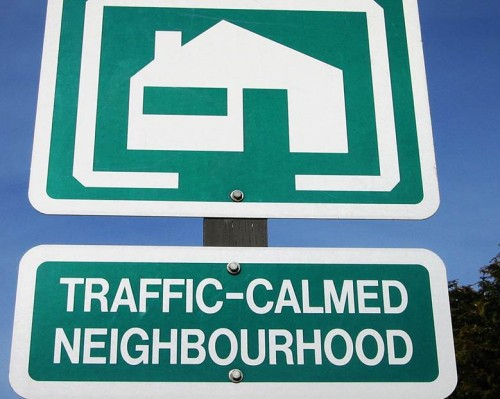 traffic calmed neighbourhood