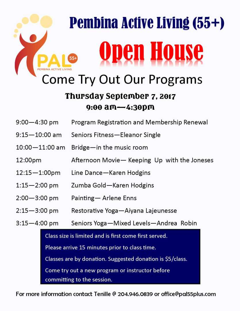 PAL Open House - Sept 2017