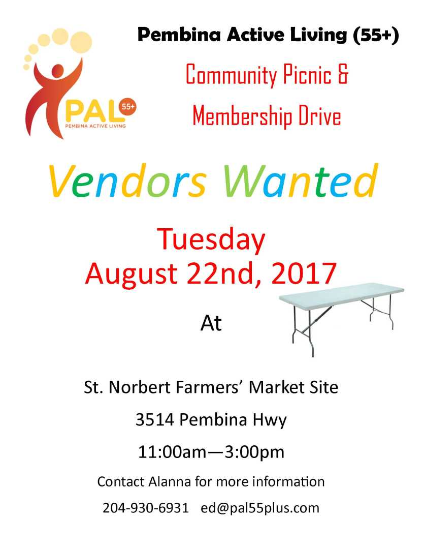 pal vendors wanted