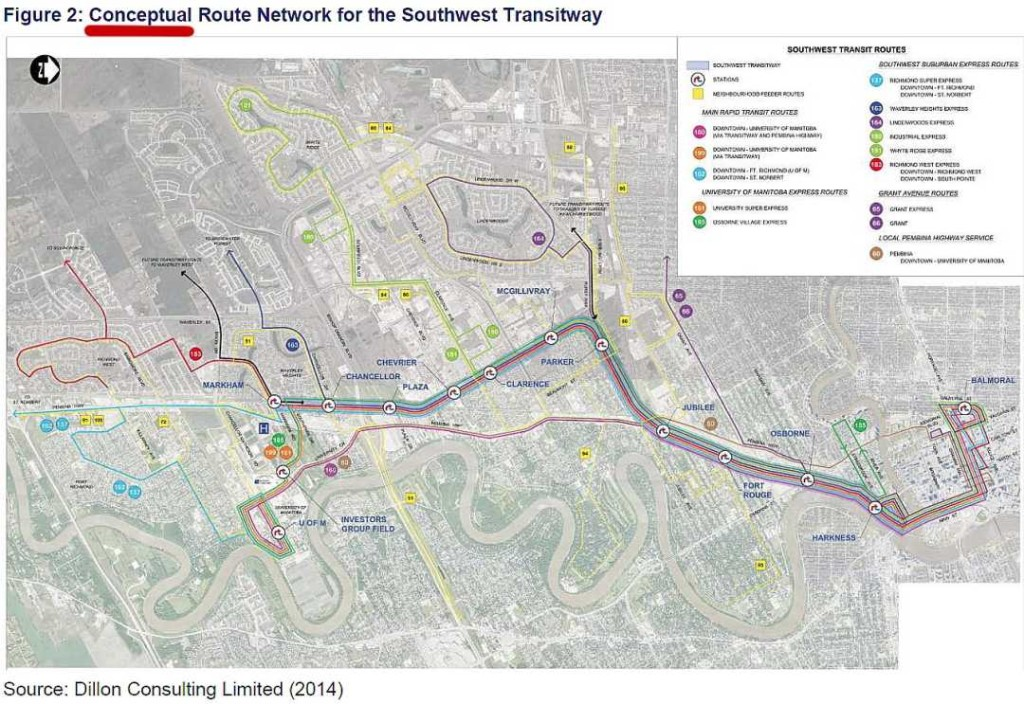 Conceptual Routes to Transitway