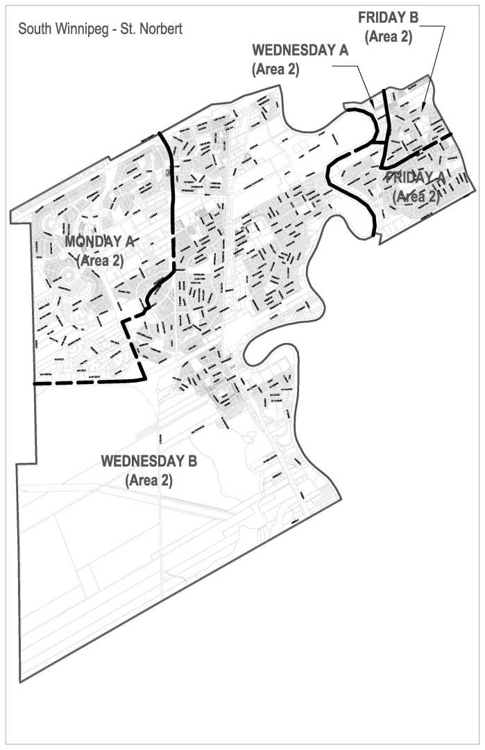 Ward Map Oct 1 2017 - garbage and recycling pick up