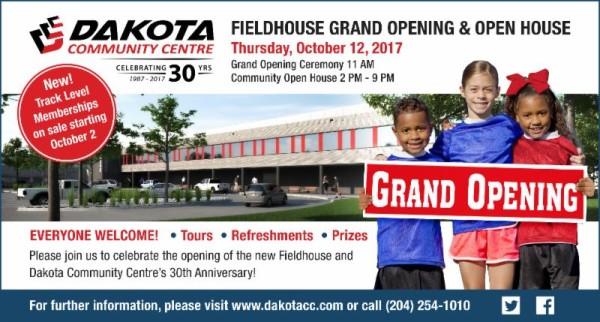 dakota field house grand opening
