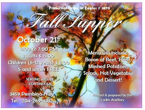 fraternal order of eagles fall supper 2017