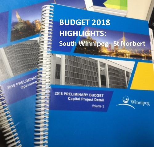 2018 Budget Highlights for South Winnipeg-St. Norbert Ward