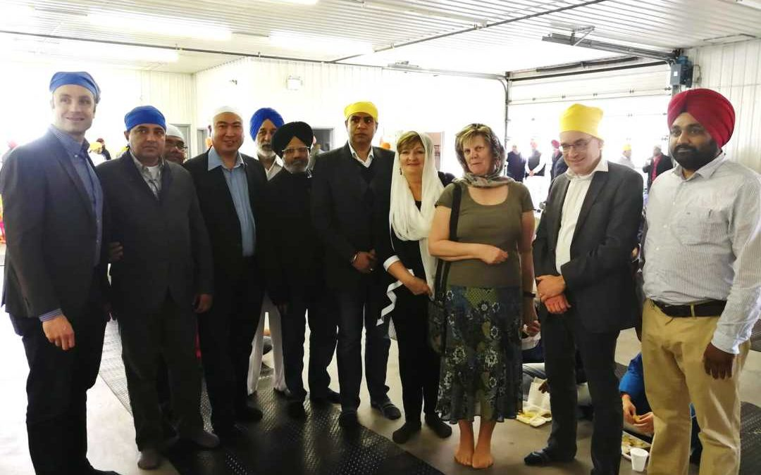 Opening Of Guru Nanak Mission Centre In St Norbert