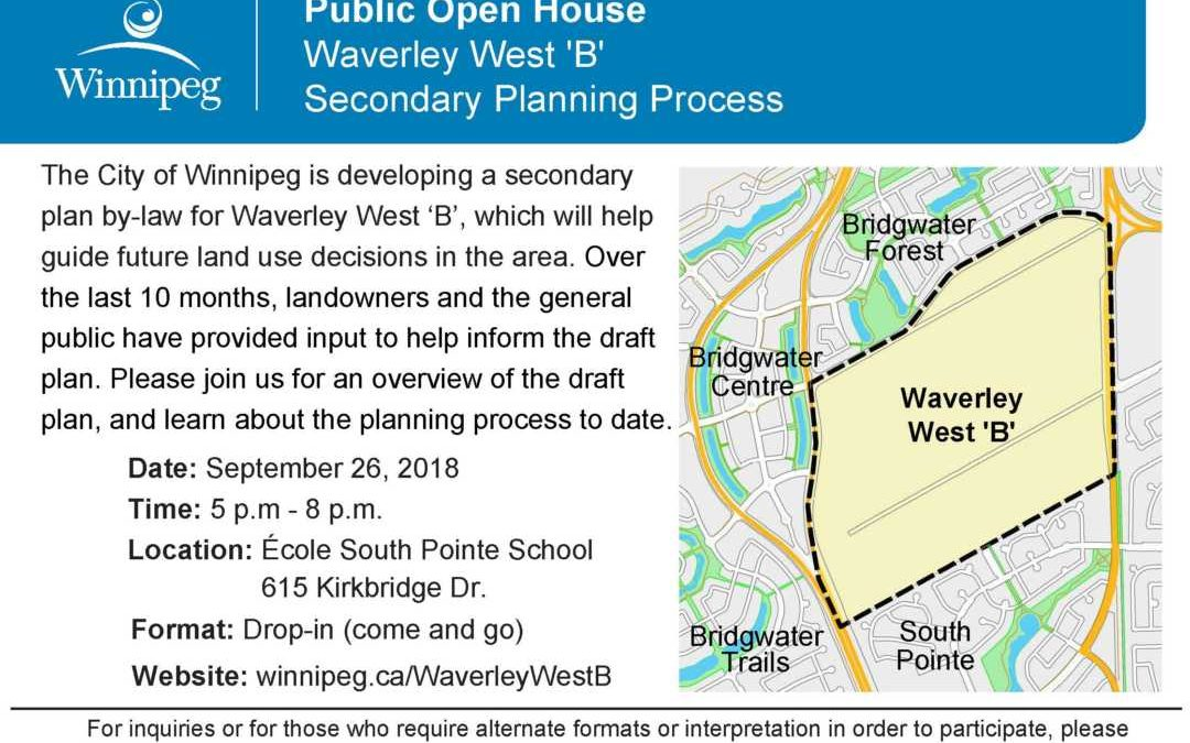 Public Open House – Waverley West 'B' Secondary Planning Process
