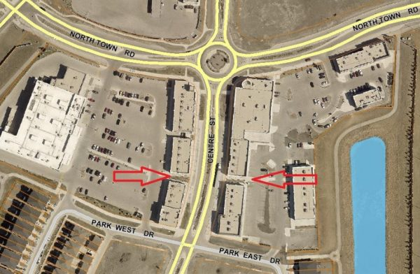 Traffic Study – Pedestrian Crossing On Centre Street Between North Town Road and Park West Drive
