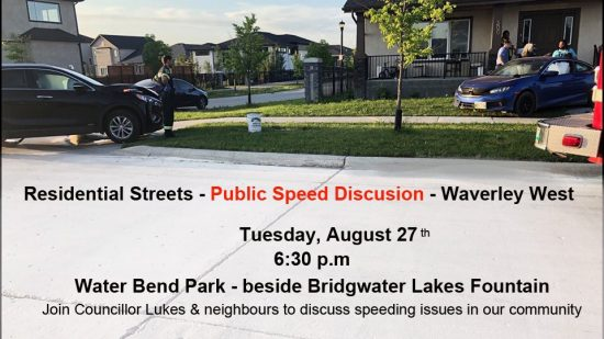 Residential Streets Public Speed Discussion – Waverley West