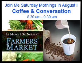 Invitation – Coffee & Conversation at St. Norbert Farmers' Market