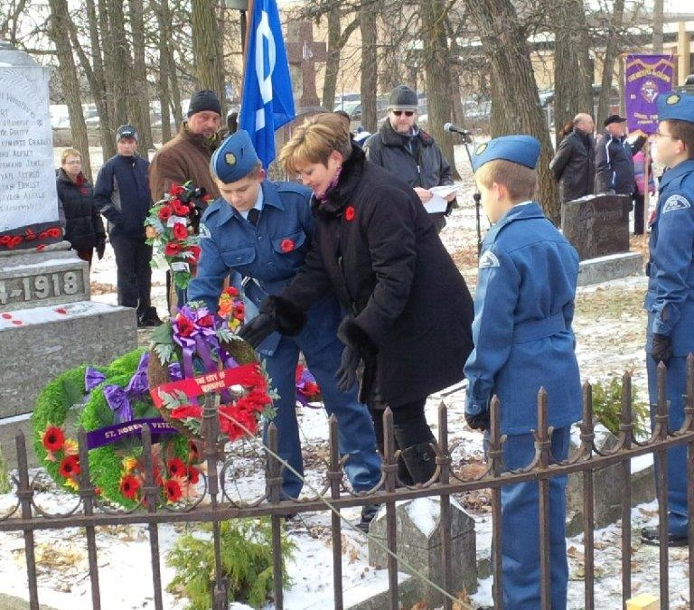 Remembrance Day Service in St. Norbert