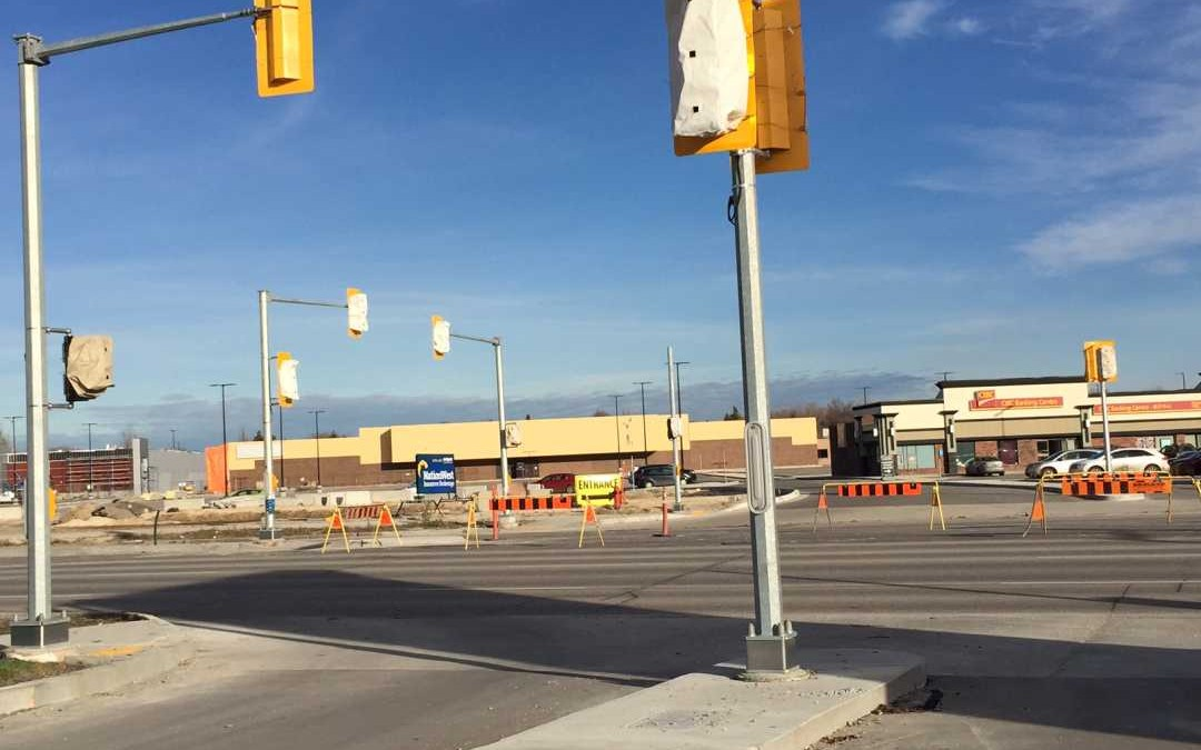 New Traffic Lights on Pembina Highway