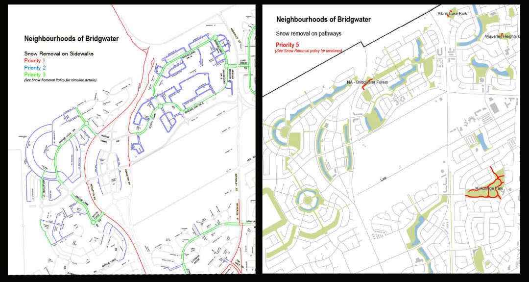 Snow Removal on the Active Transportation Network: Neighbourhoods of Bridgwater