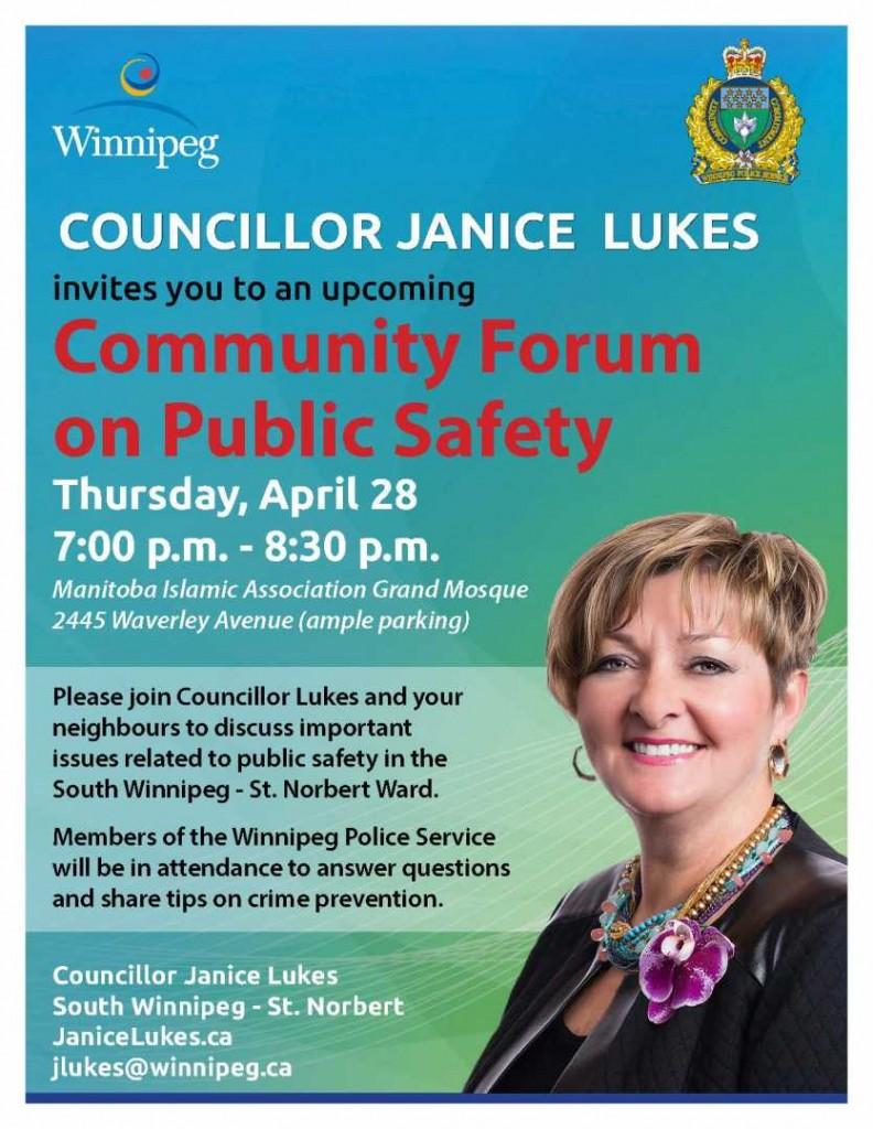 April 28 2016 Community Safety poster