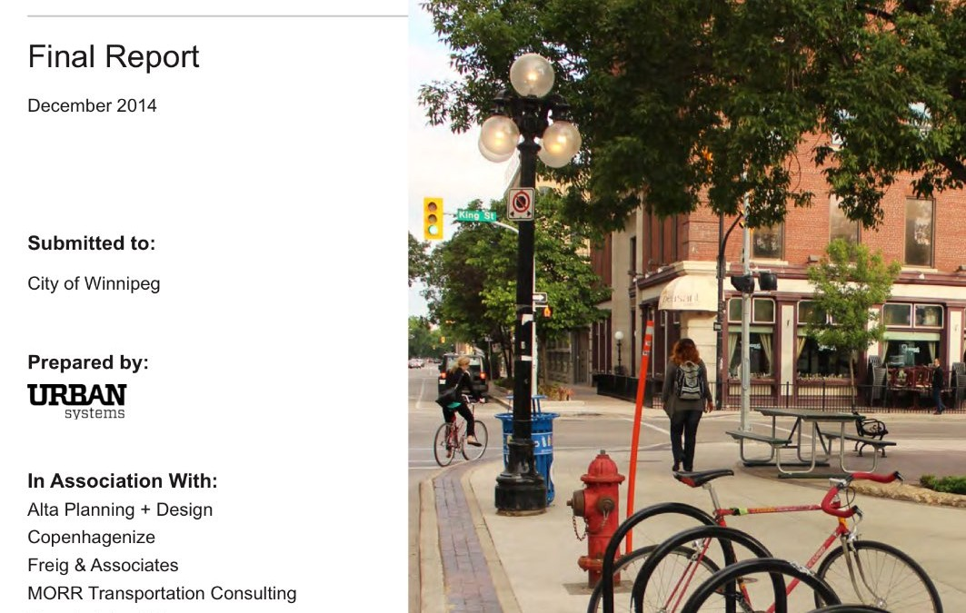 Winnipeg's Pedestrian and Cycling Strategies Wins National Award