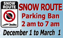 """Snow Route"" Parking Ban Begins December 1 – Stay Informed"