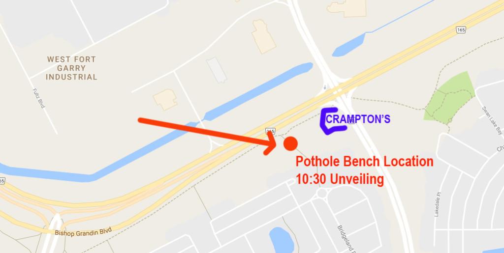 Pothole Bench Unveiling