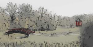 King's Park bridge sketch