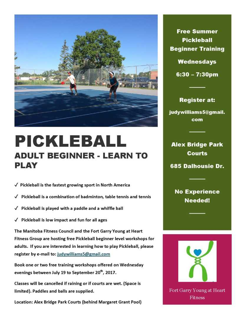 Pickleball Adult Beginner Poster Summer 2017 - FINAL