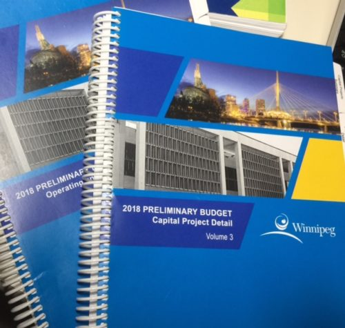 2018 Preliminary Budget – Councillor's Comments