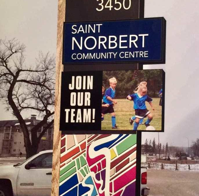 New Digital Sign for St Norbert Community Centre