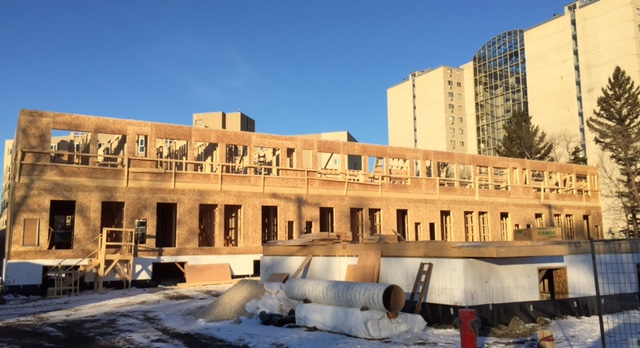Multi Family Construction Occurring on University Crescent