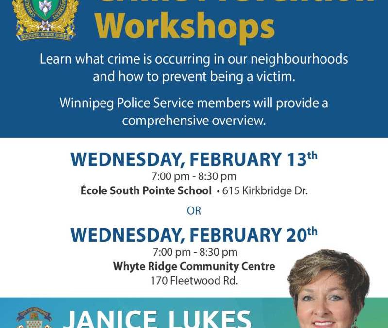 Waverley West Crime Prevention Workshops