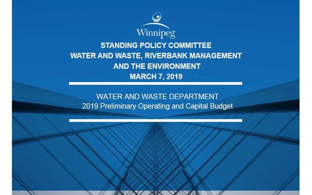 Preliminary Water and Waste Budget – 2019