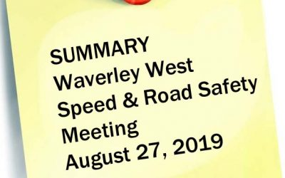 Summary: Speed & Road Safety In Waverley West – Community Conversation