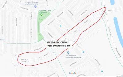 Slower Speed Limits in Waverley West