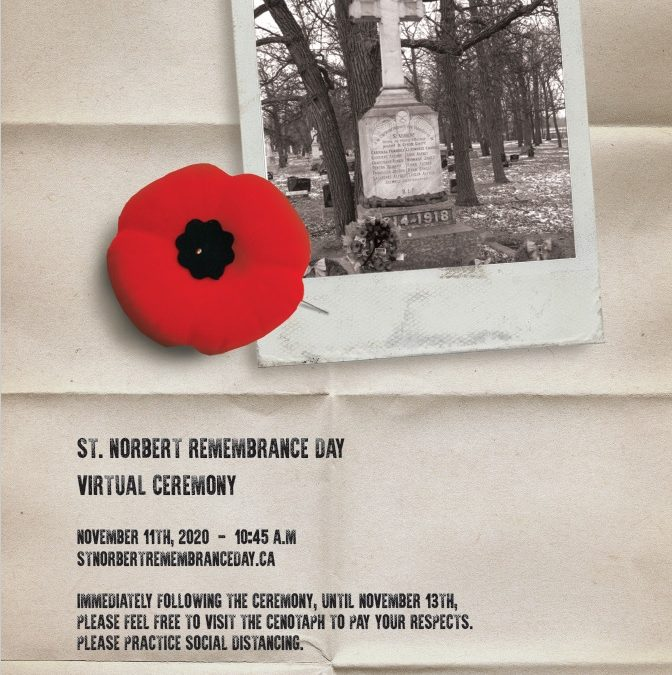 Virtual Remembrance Day in St Norbert