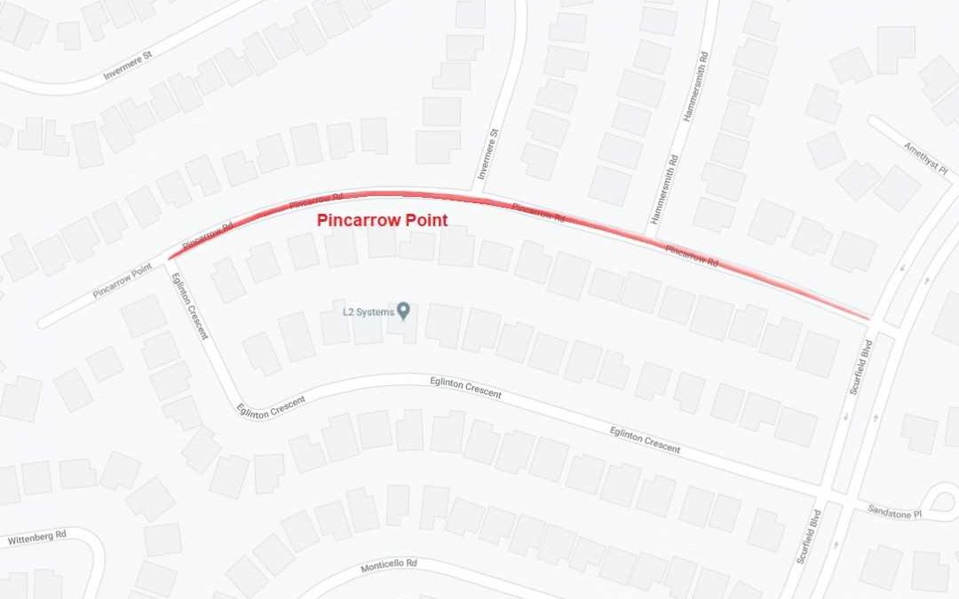 Construction Notice – Pincarrow Rd – Scurfield Blvd to Eglinton Cr